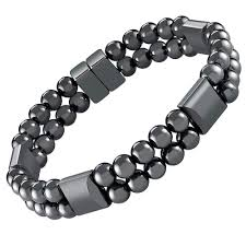 bracelet jewelry magnetic images Double hematite magnetic therapy bracelet jupiter png