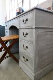 Chalk Paint Desk by Georgeous Gray Desk Using White Wax On Furniture White Chalk