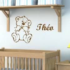 stickers chambre bébé disney chambre bebe stickers sticker nounours a personnaliser stickers