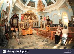 interior of the assumption cathedral of russian orthodox church