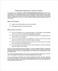 12 data confidentiality agreement templates u2013 free sample