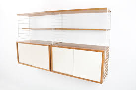oak modular wall unit by nisse strinning for string 1960s for