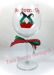holiday wine glass funny christmas wine glass christmas wine