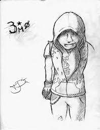 hoodied emo kid sketch by emohoodiedude on deviantart