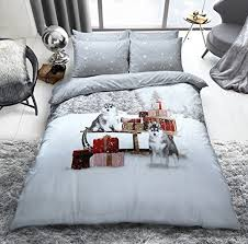 Christmas Duvet Cover Sets Christmas Duvet Cover Set Double With Matching Fitted Sheet