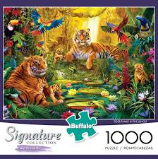 tiger family in the jungle jigsaw puzzle puzzlewarehouse com