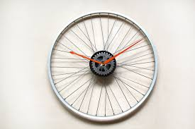 Clock Made Of Clocks by How To Make A Bicycle Rim Clock 12 Steps With Pictures