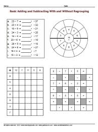 mixed adding and subtracting worksheets worksheetsdirect com