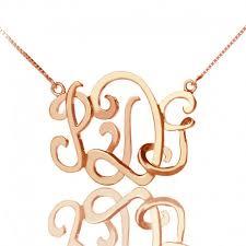 Monogram Neclace 3d Monogram Necklace Personalizedperfectly