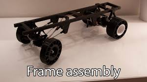 mega truck chassis 3d printed rc truck v2 frame assembly youtube