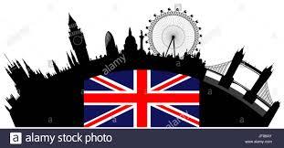 London Flag Photos Travel Famous Tourism London Flag Skyline Landmark Vector