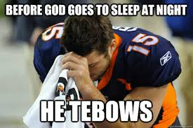 Tebowing Meme - most controversial college football players of the last decade