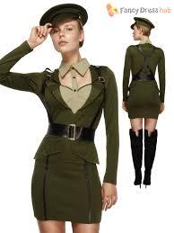Soviet Halloween Costume Ladies Fever Army Captain Military War Soldier Uniform Fancy