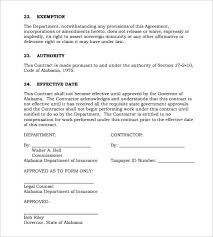 consulting contract template 11 free sample example format