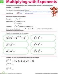 exponents practice worksheets math and plays