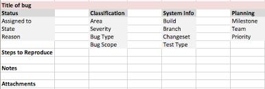 qtp tutorials u0026 interview questions bug report template