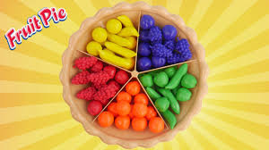 super sorting pie best learning video for kids learn colors