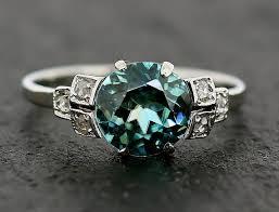 art deco ring blue zircon u0026 diamond antique via this etsy store