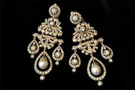 and pearl chandelier earrings siva inc vintage inspiration