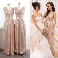 cheap champagne silver bridesmaid dresses free shipping