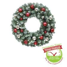 outdoor lighted wreath cordless 36237 astonbkk