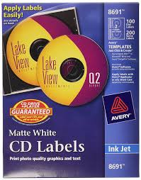 amazon com avery cd labels 100 disc labels u0026 200 spine labels