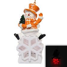 tennessee volunteers snowman led ornament tennessee volunteers store