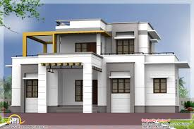 Three Bedroom House Design Pictures Home Architecture Bedroom Contemporary Flat Roof House Kerala