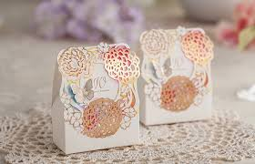 butterfly favor boxes butterfly flower laser cut wedding favor box ewfb080 as low as 0 93