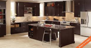 specialty kitchen cabinets shaker specialty kitchen cabinets in java kitchen the home depot
