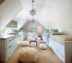 Bedroom Charming Attic Room Decoration With Bunk Beds Using Cream - Fitted bunk bed sheets