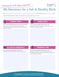 lamaze for parents blogs the best birth plan template we