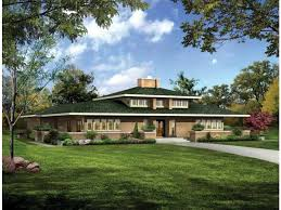 prairie style houses home plan homepw14790 3278 square foot 4 bedroom 3 bathroom