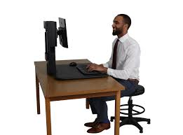 Sit Stand Adjustable Desk by Victor Dc300 High Rise Sit Stand Desk Converter Victor