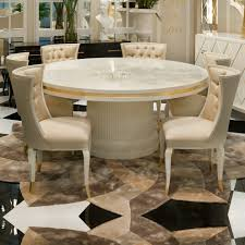 high end modern ivory lacquered round dining table juliettes