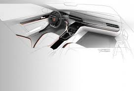 porsche mission e sketch volkswagen midsize coupe concept automotive interior