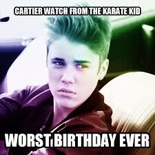 Justin Beiber Memes - justin bieber won t shut up about worst birthday introducing the