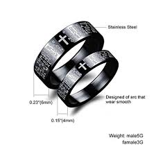matching rings stainless steel couples matching rings set bible in