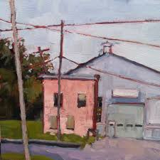Home Decor Affordable Original Plein Air Urban Landscape Oil Painting Little Pink House