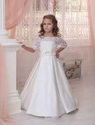 simple communion dresses this simple chic white satin communion dress features lace trim