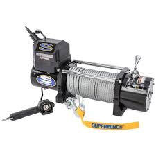 superwinch 1585202 lp8500 winch rated line pull 8 500 lbs jegs