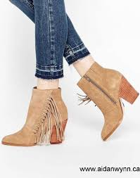 womens fringe boots canada buy now canada minnetonka rancho suede fringe buckle