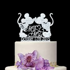 custom wedding cake toppers personalize date silver wedding cake topper mr mrs wedding
