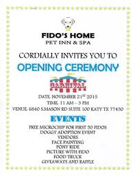 Invitation Card For Home Opening Ceremony Long Meadow Veterinary Clinic