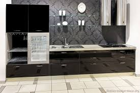 Black Cabinets Kitchen Pictures Of Kitchens Modern Black Kitchen Cabinets Kitchen 1