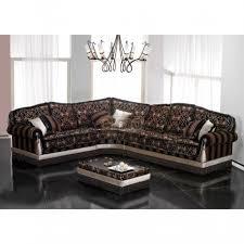 Canapé Fixe Confortable Design Au Angle Design Classique Tissu Décor Grand Confort