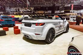 hamann land rover geneva 2017 hamann range rover evoque convertible gtspirit