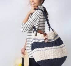 nautical bags nautical hobo bag free crochet pattern
