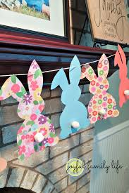 Easy Easter Decorations To Make At Home by Funky Bunny Garland For Easter U0026 A Free Template Easter