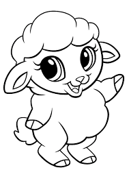 cute sheep coloring pages printable coloringstar